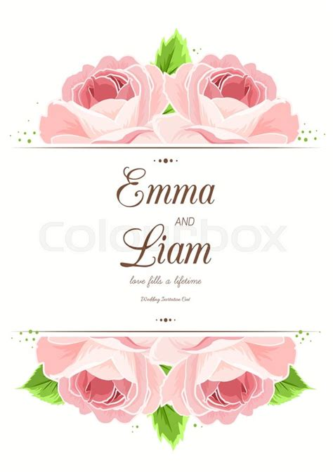 S Day Flower Card Template by Wedding Marriage Card Template Pink Flowers