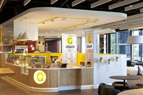 food court shop design qsan yakitori express store by morris selvatico sydney