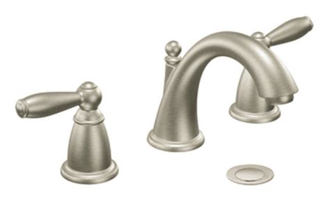 Moen Brantford Lav Faucet moen brantford two handle low arc widespread bathroom faucet without valve brushed nickel