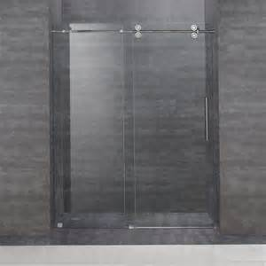shower doors sliding frameless aston sdr978 60 in frameless sliding shower door atg stores