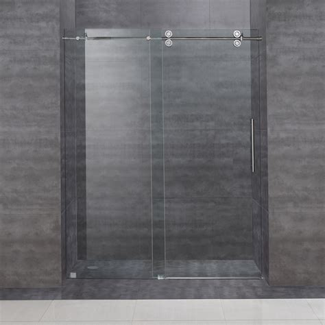Frameless Shower Doors Sliding Aston Sdr978 60 In Frameless Sliding Shower Door Atg Stores