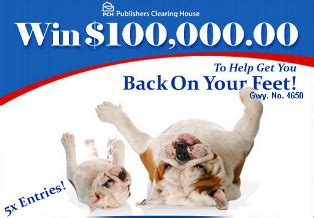 Publishing Clearing House Canada - publishers clearing house a 100 000 prize from giveaway no 4650 giveawayus com