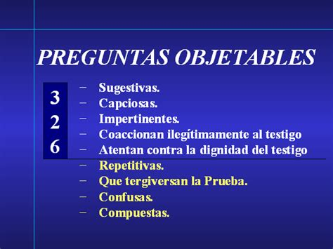 preguntas capciosas en interrogatorio objeciones en la rep 250 blica dominicana monografias