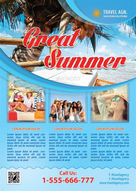 travel agency flyer template 95 by 21min graphicriver