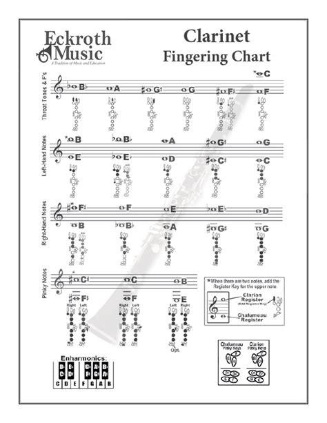 clarinet chart clarinet chart highslide js jazzbooks