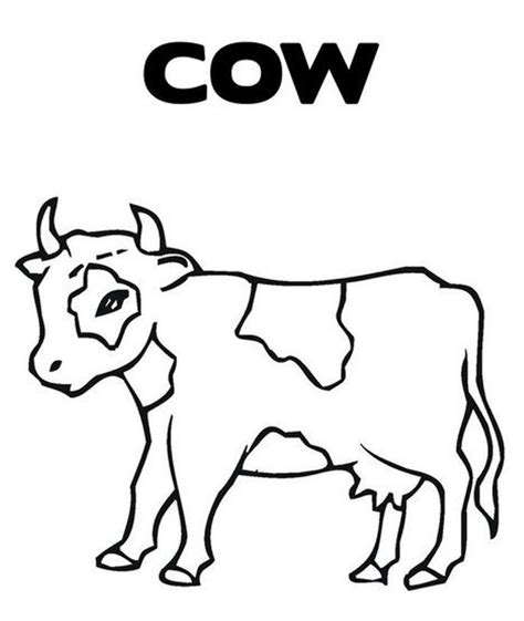 simple cow coloring page simple cow coloring coloring coloring pages