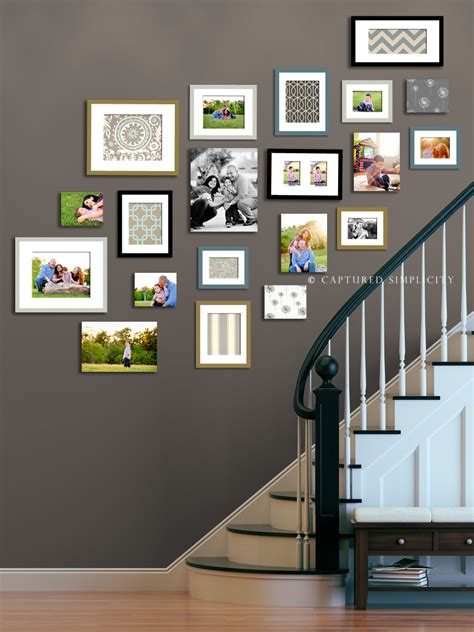 Wall Picture Collage Ideas Stairway Displays Wall Collage Ideas Child Family
