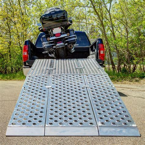 aluminum folding motorcycle ramp  piece big boy ez