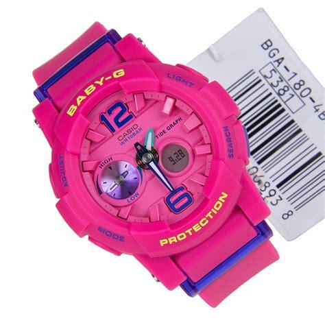 Casio Baby G Bga 180 List Pink Model Terbaru casio baby g g lide pink bga 180 4b3dr
