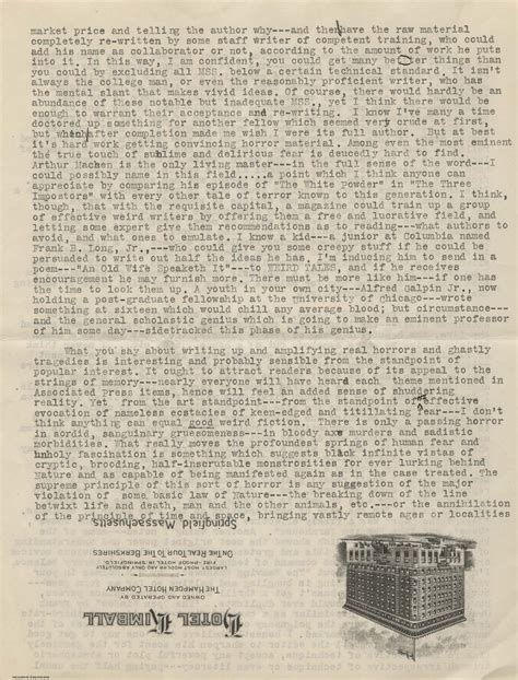 Letter Lovecraft Fellows Find H P Lovecraft Letter Sheds Light On Pivotal Moment In His Career Cultural Compass