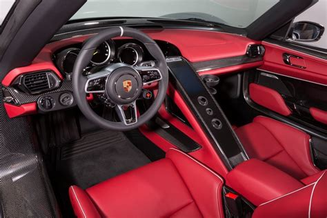 porsche 918 interior porsche 918 spyder weissach package car list