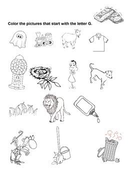color that begins with j g coloring words that start with g free by miss s says