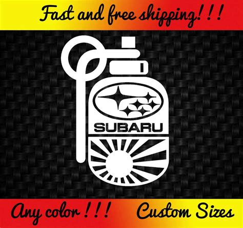 subaru jdm stickers subaru grenade decal sticker jdm import turbo wrx sti