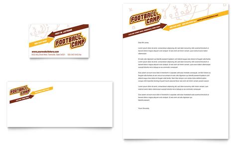 Baseball Card Template Publisher by Football Sports C Business Card Letterhead Template
