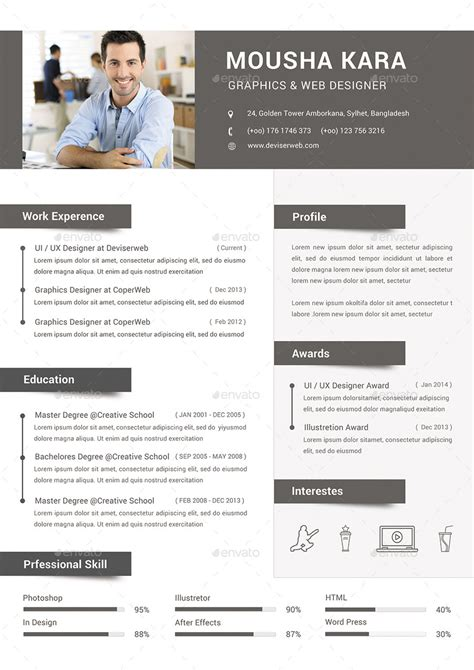 Best Resume Font Color by Simple Creative Cv Resume Amp Cover Letter By Redwanulhaque Graphicriver