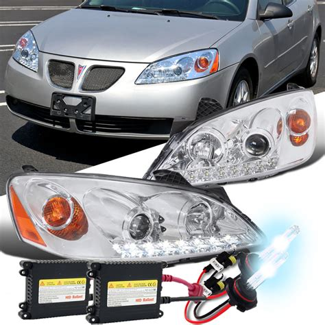 pontiac g6 headlight hid xenon 05 10 pontiac g6 led drl projector headlights