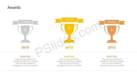 free ppt templates for winners awards powerpoint template