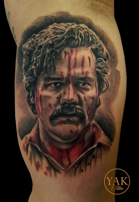pablo escobar tattoo pablo escobar portrait tattoos