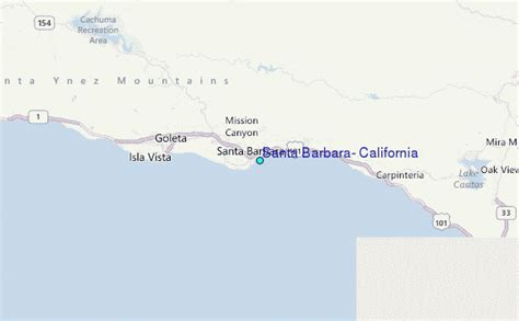 santa barbara california tide station location guide