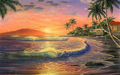 Wedding Flowers Oahu Hawaiian Sunset Wallpaper Wallpapersafari