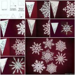 How Do You Make Paper Snowflakes Step By Step - how to make snowflakes of paper step by step diy tutorial