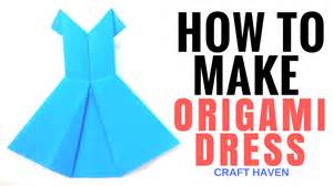 how to make comfortable how to make origami dress easy tutorial for beginners