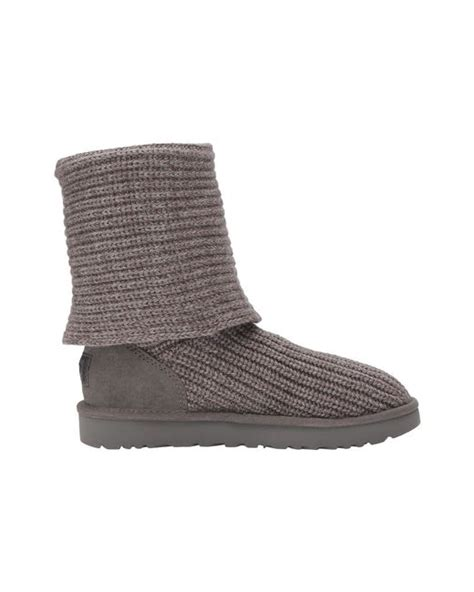 black knit boots with buttons ugg 174 classic cardy button detailed knit boots in black