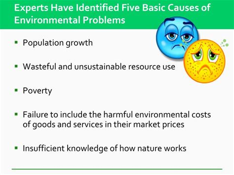 narratives of educating for sustainability in unsustainable environments books ppt environmental problems their causes and