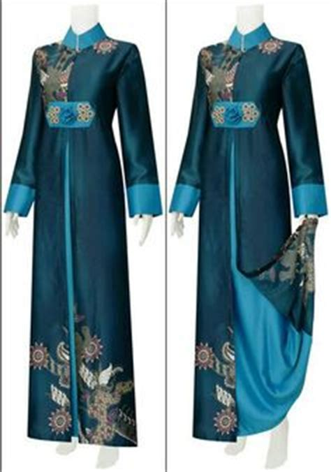 Busana Blouse Trendy 1 model baju gamis batik kombinasi terbaru trend baju