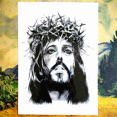 jesus temporary tattoo jesus with crown of thorns temporary tattoo body art arm