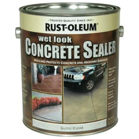 Garage Floor Sealer Home Depot by Rust Oleum Concrete Stain 1 Gal Concrete Stain Look