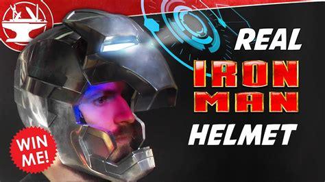 metal iron man helmet display giveaway bitinvader