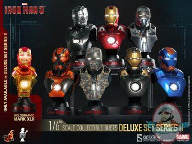 Iron 16 Bust Deluxe Set Of 8 Toys 1 6 Iron 3 Series 2 Deluxe Set Of 8 Collectible Bust