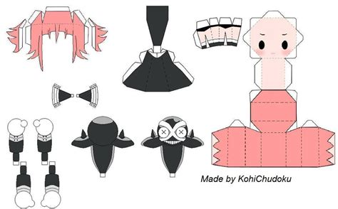 Anime Papercraft Printable - crona papercraft template by kohichudoku on deviantart