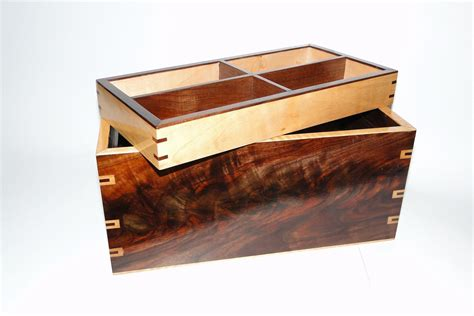 Secret Drawer Box by Custom Walnut And Curly Maple S Box With Drawer And Removable Tray Secret