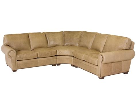 classic leather sectional classic leather kirby sectional 3517 leather furniture usa