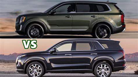 2020 Hyundai Palisade Vs Kia Telluride by 2020 Kia Telluride Vs 2020 Hyundai Palisade