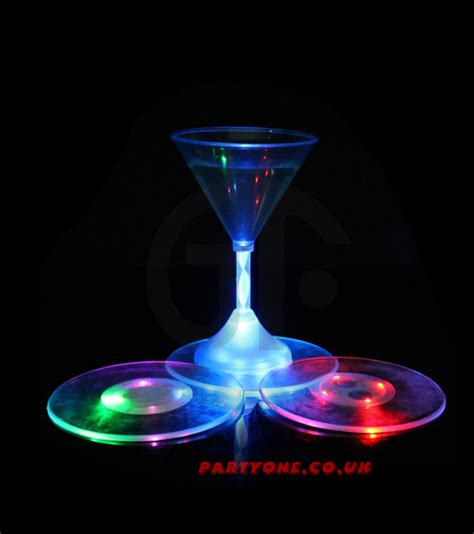 light up drinking glasses party city best clear led light up glasses bottle drink coasters mats