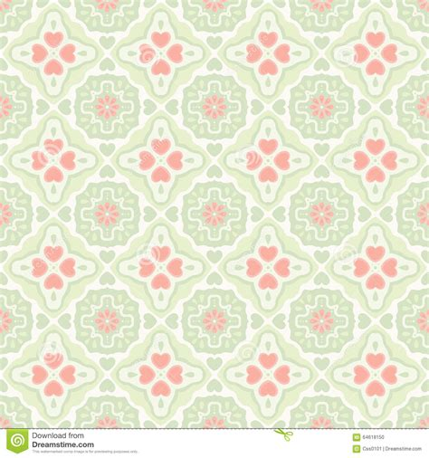 heart vintage pattern vector vintage flat seamless pattern with heart stock
