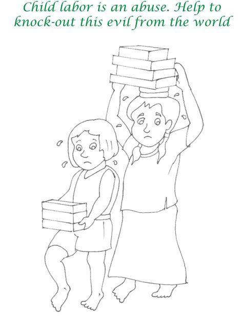 Coloring Pages Of Child Labour | child labour images colouring pages