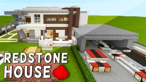 redstone house redstone house in mcpe bonus map in the download minecraft blog