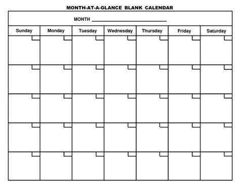 Printable Blank Calendar Template Pdf Pdf Calendar Template