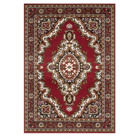 Red Medallion Traditional Rug Shiraz Kukoon Traditional Rug
