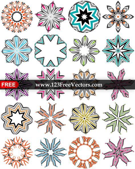 decorative design elements vector free abstract vector decorative design elements in color