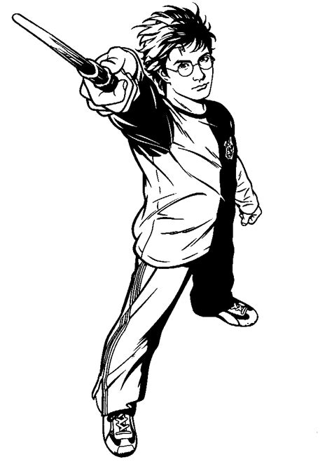 Good picture Harry Potter coloring pages   color online