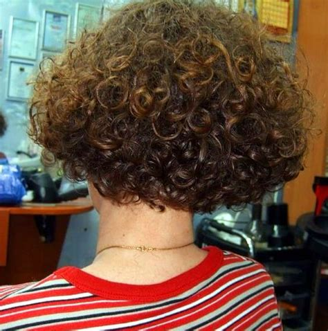 stacked hair with perm permed bob back permed hairdos pinterest bobs