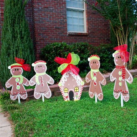 gingerbread decorations ideas  pinterest