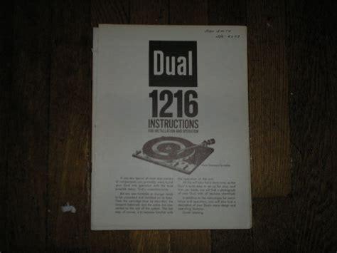 Dual Cs731q Turntable Service Manual