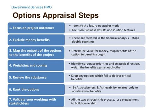 Business Mba Options by Image Gallery Options Appraisal Matrix