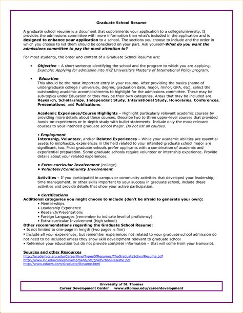 resume objective for graduate school resume ideas